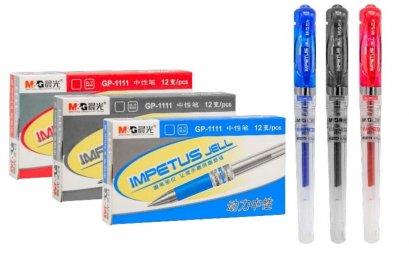ปากกาเจลปลอก GEL PEN ขนาด 0.7 mm. (บรรจุ 12 ด้าม)  GP1111