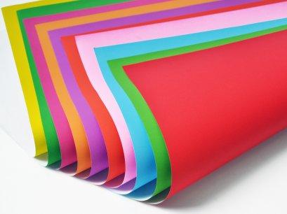 กระดาษโปสเตอร์บางสีหน้าเดียว ( 100 แผ่น )