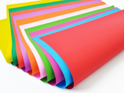 กระดาษโปสเตอร์ 1 สี 2 หน้า 100 แกรม ( 100 แผ่น )