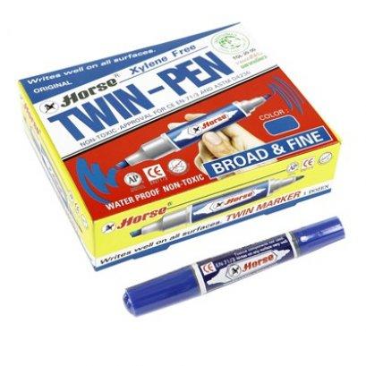 ปากกามาร์คเกอร์ 2 หัว ตราม้า