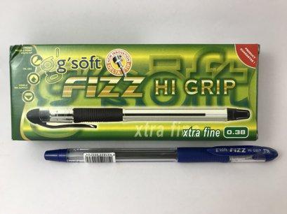 ปากกาลูกลื่น 0.38 มม. จีซอฟท์ HI-GRIP(บรรจุ 12 ด้าม)