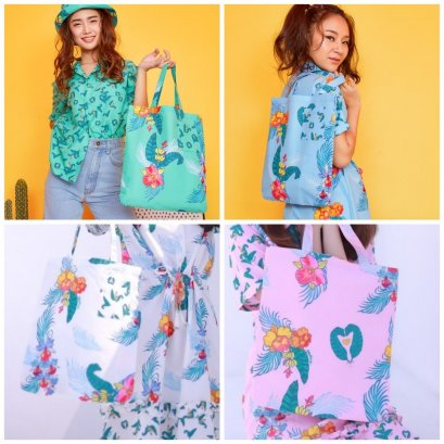 SD12- Sawasdee Print Shopping Tote - In Stock Now