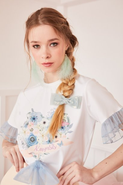 JR16 - Juliet's Rose Short Sleeve Ruffle T-Shirt - In Stock Now