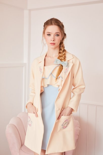 JR01 -  Juliet's Rose embroidered double-breasted blazer dress - In Stock Now