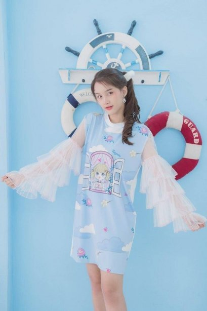 KYS037 My Day Playset Ruffled Sleeve Dress. -  IN STOCK NOW