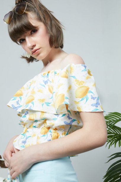 LMN05 - Sweet Lemonade Ruffle Off Shoulder Top - In Stock 25th Dec