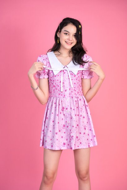STR02 - WISH UPON A STAR FRONT BUTTON DRESS - IN STOCK 10th Sep