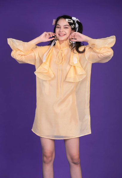 KYS049 - Wish Upon A Star Ruffle Volume Dress - In Stock 5th Sep