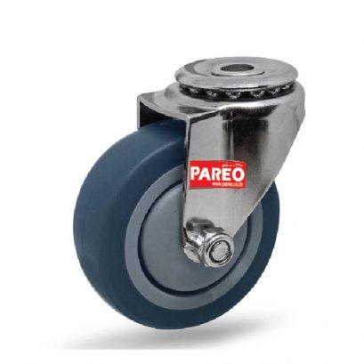 อะไหล่ล้อรถเข็นช้อบปิ้ง ล้อยางเทา มาตรฐาน DIN EN ISO 9001 PAREO 30480