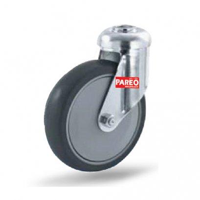 อะไหล่ล้อรถเข็นช้อบปิ้ง ล้อยางเทา มาตรฐาน DIN EN ISO 9001 PAREO 30497,30503