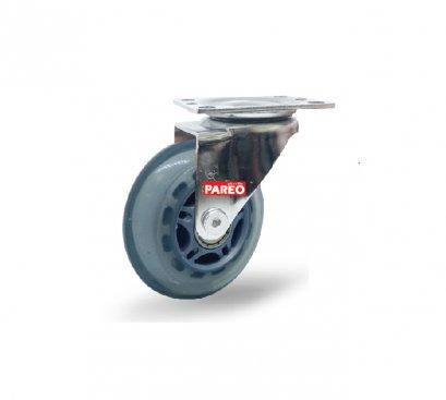 ลูกล้อโพลียูรีเทนใส รับน้ำหนัก60-90กก.แป้นหมุน รุ่น MOVER  ยี่ห้อ PAREO 41899