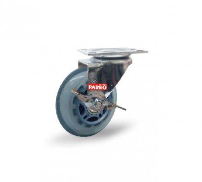 ลูกล้อโพลียูรีเทนใส รับน้ำหนัก60-90กก.แป้นเบรค รุ่น MOVER  ยี่ห้อ PAREO 41912