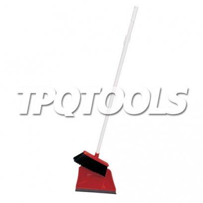 ที่โกยขยะ Long Handled Plastic Dustpan & Brush Set COT-907-4650K