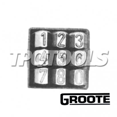 เหล็กตอกตัวเลข 0-9 รุ่น101ZR