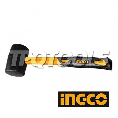 ค้อนยางด้ามไฟเบอร์ 8oz/220g, 16oz/450g INGCO-HRUM8208, INGCO-HRUM8216