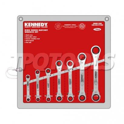 ชุดประแจแหวนฟรี คอตรง KEN-582-9730K
