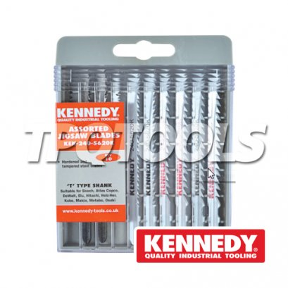10 Piece Wood Cutting Jigsaw Blade Assortment KEN-240-5620K