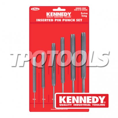 EX/LENGTH INSERTED PIN PUNCHES 6-PCE SET KEN-518-2435K