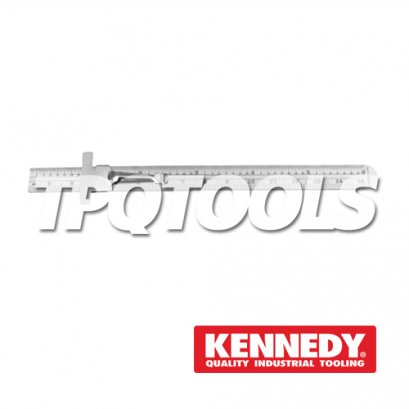 "150mm/6"" RUSTLESS RULE & CLIP ROUND END KEN-518-3510K"