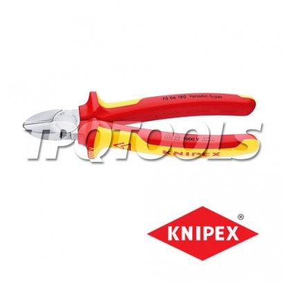 คีมตัดปากเฉียงกันไฟ VDE1000V 70 06 180