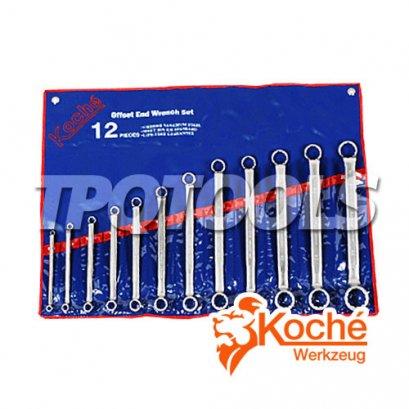 ชุดประแจแหวน 75 องศา KCH016S12