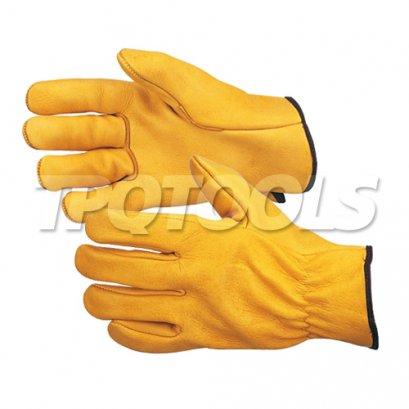 ถุงมือหนังวัวสีเหลือง