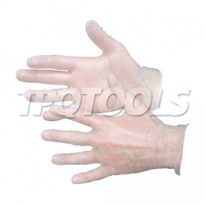 ถุงมือไวนิลโปร่งใสแพ็ค 100 ชิ้น