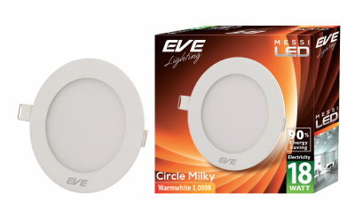 LED Downlight Messi Circle Milky-18W Warmwhite