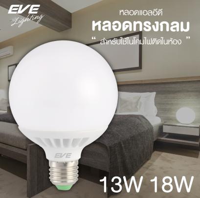 LED Globe E27 หลอดแอลอีดี Globe ขนาด 13, 18  วัตต์ เดย์ไลท์, วอร์มไวท์, คูลไวท์  E27