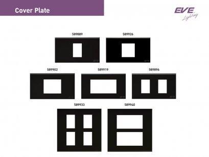 หน้ากาก สีดำ ขนาด 1, 1.5, 2, 3 , 4 และ 6 ช่อง