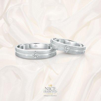 แหวนคู่ แหวนแต่งงาน แหวนหมั้นเพชร KD3683 & KD3598