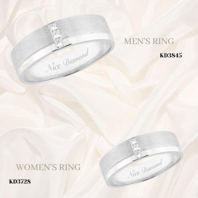 แหวนคู่ แหวนหมั้น แหวนแต่งงาน แหวนเพชร KD3845 & KD3728