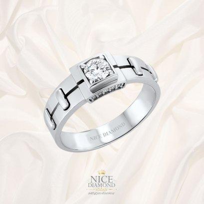 แหวนเพชรผู้ชาย ดีไซน์เท่ห์แบบนำสมัย KD2356