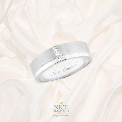 แหวนเพชรผู้ชาย เหลี่ยมปริ๊นเซส KD3845