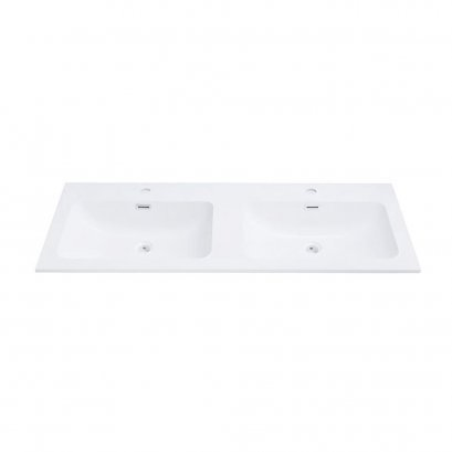 Countertop double wash basin