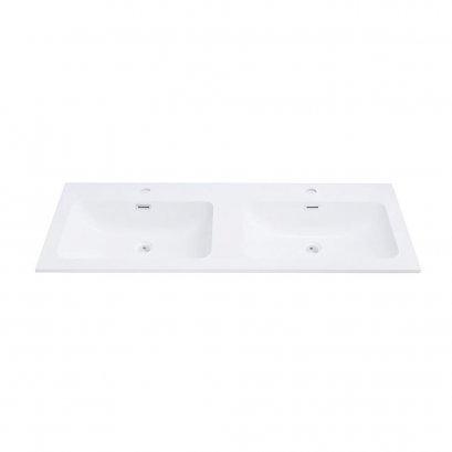 Countertop double wash basin