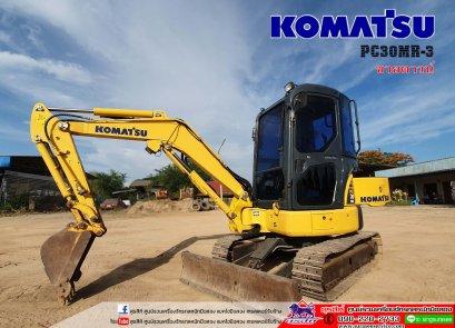 ขายดาวน์ 400,000 บาท KOMATSU PC30MR-3 ใช้งาน 1 พันชั่วโมง PM 2,500 ช.ม. สภาพนางฟ้า