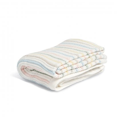Knitted Blanket - Soft Pastel