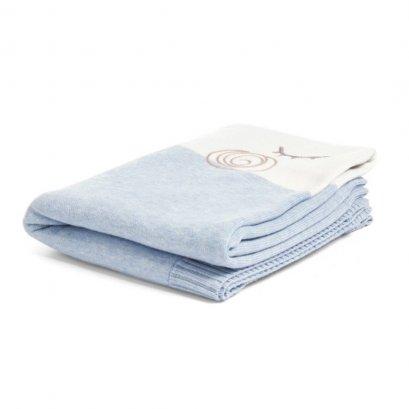 ผ้าห่มลายเมฆ สีฟ้า Knitted Cloud Blanket - Blue