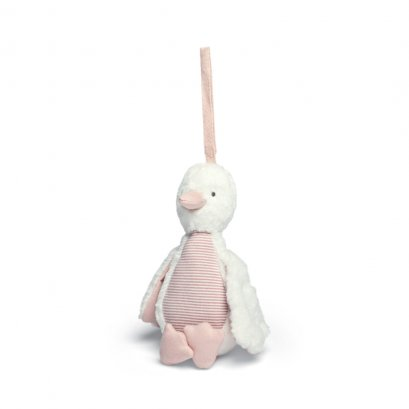 ของเล่นแขวนเป็ดสีชมพู Welcome to the World Chime Duck - Pink