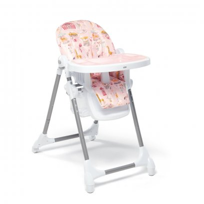 Snax Adjustable Highchair with Removable Tray Insert - Circus Pink