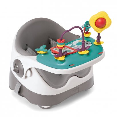 Mamas & Papas เก้าอี้หัดทาน Baby Bud สี Soft Grey พร้อมถาดของเล่น