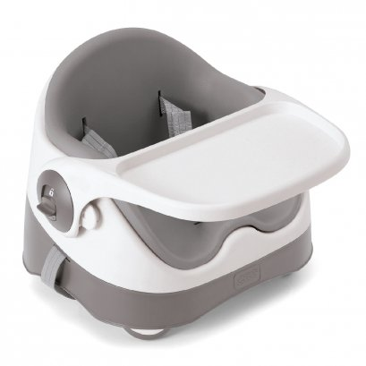 Baby Bud Booster Seat for Dining Table with Detachable Tray - Grey