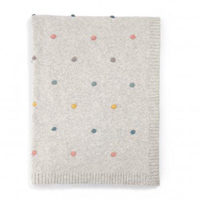 ผ้าห่มสีเทาลายจุด Spot Knitted Blanket
