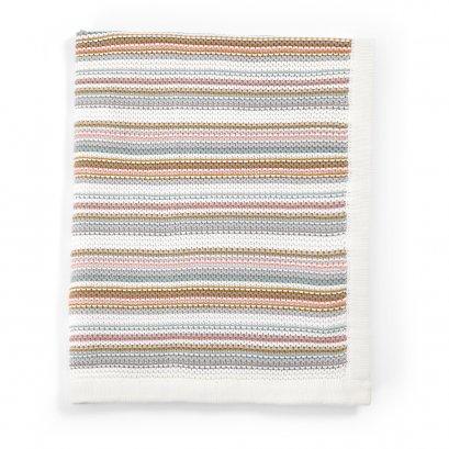 ผ้าห่มถักลายทาง Pastel Stripe Knitted Blanket