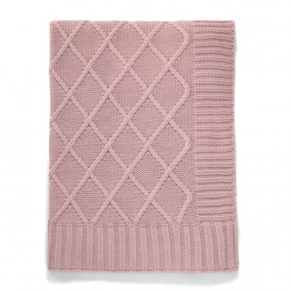 Knitted Blanket - Dusky Rose