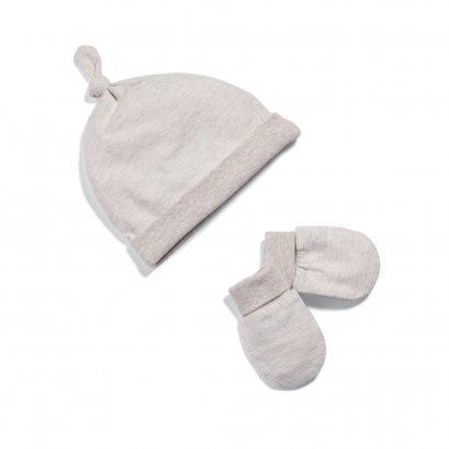 Stripe Hat & Mitts
