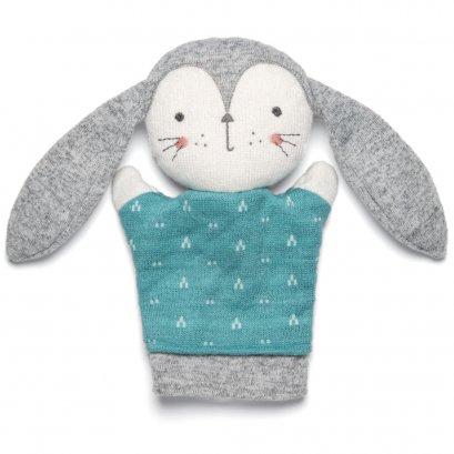 ตุ๊กตาถุงมือกระต่าย Soft Toy - Knitted Bunny Puppet