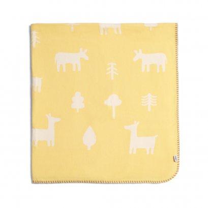 ผ้าห่มสีเหลือง ขนาดใหญ่ ลาย Animal