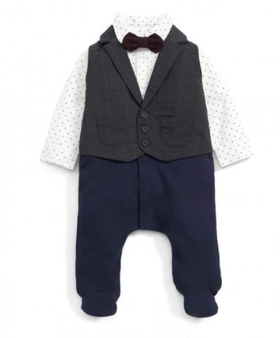 Mock Layer Waistcoat All-in-One